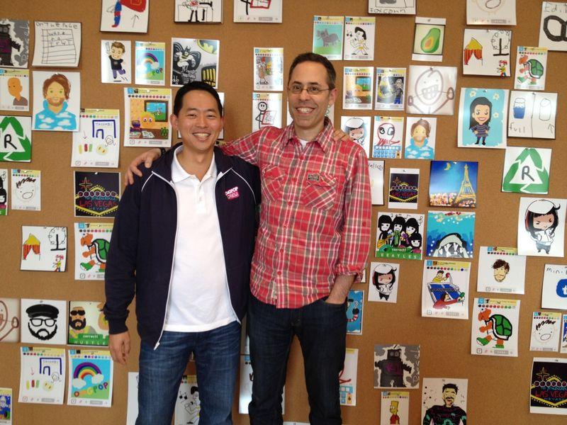 Ο David Ko, chief mobile officer της Zynga & Ο Dan Porter, CEO της OMGPOP