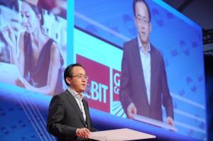 SP Kim delivering keynote at CeBIT 2014