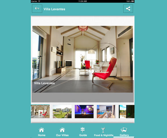 Anemon Villas Mobile App by Jupitee_ipad