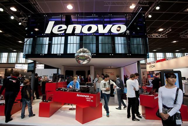 Lenovo syand at IFA consumer electronics trade fair in berlin Germany