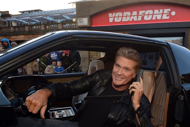 David Hasselhoff and KITT today launched Vodafone's 1984G Street