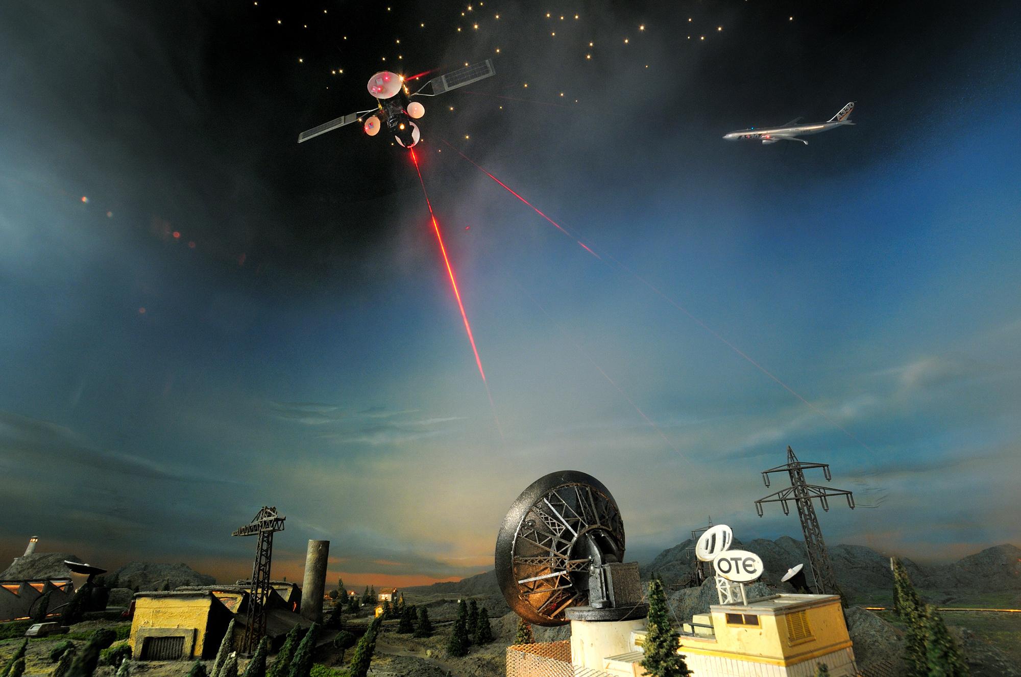 Άποψη μακέτας Δορυφορικών Επικοινωνιών, Τηλεπικοινωνιών ΟΤΕ